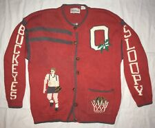 Ohio State Buckeyes BellePointe Red Basketball NCAA Button Up Women's Sweater XL