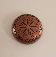 """26310-O28 1 1/2"""" Antique Copper Sunburst Style Screw Back Dome Concho"""