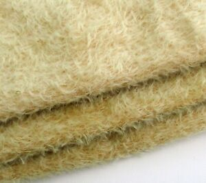 Pale honey hand dyed mohair fur.  Sparse 10mm pile. Perfect for small bears