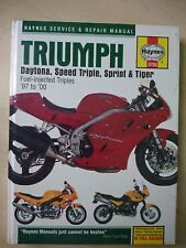 Triumph Daytona, Speed Triple, Sprint and Tiger 97-00 Haynes Manual