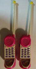 Vintage Pair of Barbie for girls Walkie Talkie Phones Mattel Kiddesigns WORK