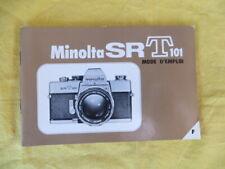 MINOLTA SR T101 - mode d'emploi - manuel original