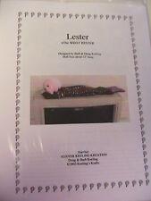 LESTER RESTER~BARB & DOUG KEELING~cloth art wrist rester doll pattern RARE 2002
