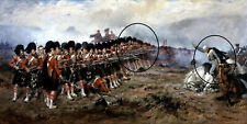 The Thin Red Line - Battle of Balaclava by Robert Gibb fine art on canvas
