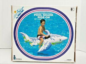 NOS Intex Inflatable Pool Shark Ride On Wet Set 73 X 44 Pool Float 1994 NIB 210
