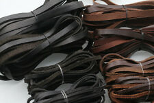 5M Flat Real Genuine Leather Rope Cord Strap String First Layer Cowhide Craft