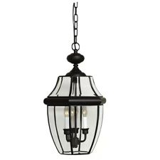 "Quoizel NY1179 Newbury 3 Light 13""W Outdoor Pendant Lantern - Black"