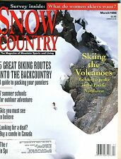 Snow Country Magazine March 1996 Volcanoes EX No ML 102416jhe