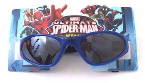 Marvel Ultimate Spider-Man Web-Warriors Blue Sunglasses 100% UV Protection NWT