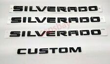 Chevrolet Silverado Door Tailgate Silverado Custom Gloss Black Emblem 84300948
