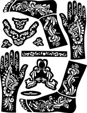 Large Hand-Feet Temporary Tattoo #Henna Stencil Sticker Body Art Vinyl Template