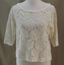 Delia's, Medium, Ivory Rose Lace Top