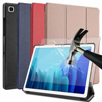 "For Samsung Galaxy Tab A7 10.4"" 2020 Leather Tablet Case /Glass Screen Protector"