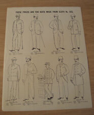 """RARE ca 1880 ADVERTISING Flyer~""""BROWNING, KING & Co.""""~Western Union UNIFORMS~"""