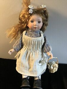 Vintage Duck House Heirloom Dolls Porcelain Doll With Stand 12 In