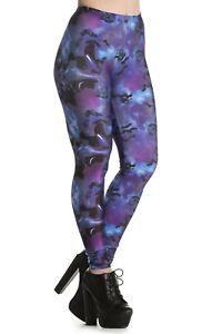 Purple Leggings. Gothic Lycra Smooth fabric. 10-14