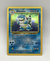 POKEMON Blastoise Base Set Unlimited Rare Holographic Holo Card 2/102 1999