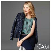 CAbi Women's Sheer Sleeveless Sage Purple 'Tulip' Blouse Size XS Style 984