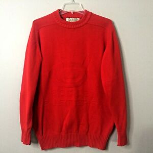 VTG LYLE & SCOTT BOGIE BUSTERS RED COTTON CREWNECK PULLOVER GOLF SWEATER Mens L