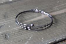 Vintage Sterling Silber Bead Bangle Bracelet Size: 2.5 inch inner diameter