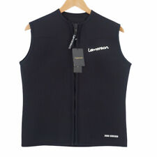 New listing Lemorecn Wetsuits Top Premium Neoprene 3mm Zipper Diving Vest Black Men's XL