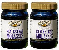 (2 Jars) Golden Barrel Unsulfured Blackstrap Molasses 16 Fl oz Each Exp 11/22