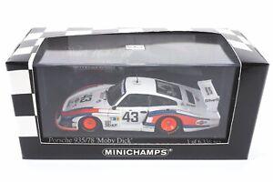 """Minichamps 430786743 Porsche 935/78 """"Moby Dick"""" Martini Le Mans 1978, 1:43""""11261"""