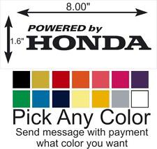 Powered by HONDA vinyl decal sticker car truck window pick a color