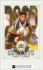 2003 Select NRL XL Cards Club Player Of year CP8 Matt sing-Cowboys