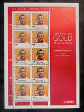 Australian Decimal Stamps: 2008 Aust Olympic Gold Medal Winners - Sheetlet MNH