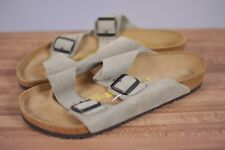 New Birkenstock Arizona Suede Two Strap Sandals Taupe Men's 44 (11 US)