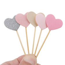 Wedding Birthday Inserted Card Love Heart Cake Decoration Cupcake Toppers J
