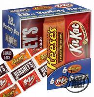 Hershey Candy Bar Assorted Variety Box (HERSHEY'S Milk Chocolate, KIT KAT)