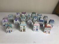 Lenox Spice Village Houses Set of 18 Porcelain Spice Jars 24k Vintage 1989