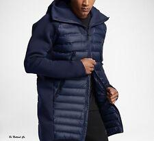 Nike Goose Down Tech Fleece AeroLoft Men's Down Parka M Blue Casual Jacket New