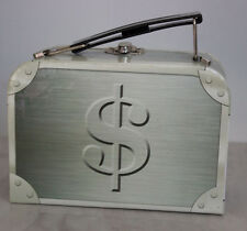 NWT Leg Avenue Gangster Moll Briefcase Purse Money Bag Paperboard Metal Closure