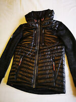 """Superdry """"STORM HYBRID HOODED JACKET """" Black Marl - SMALL - NEW & TAGS"""