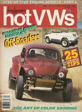 DUNE BUGGIES & HOT VW'S 1988 APR - DOOR HANDLE SHAVED, SCHWIMMWAGEN, FRIDOLIN