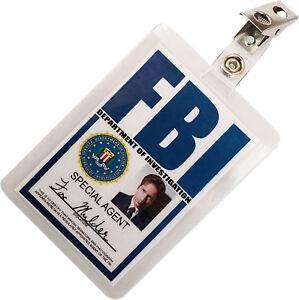 Fox Mulder X FILES FBI ID Badge Name Tag Card Prop for Costume & Cosplay XF-3