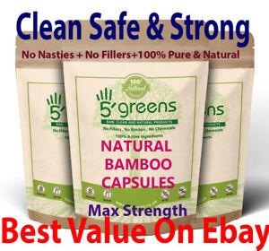 Natural Silica 500mg Capsules Silicon Bamboo Extract Hair Nails Skin Health