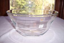 """Large 11"""" Blenko Hand-Blown Clear Flared Bowl 8013"""