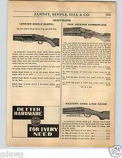 1936 PAPER AD Lefever New Model Trap Hammerless .410 12 Gauge Mossberg Shotgun