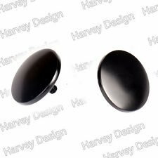 Choppers Black Inner Fairing Mirror Plugs For Harley FLHX Bating 06-16 Tri Glide