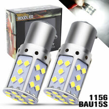 2X 1156 BAU15S LED 35 SMD 2800LM White Reverse Turn Signal Light PY21W Car Bulb