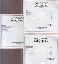 george michael faith 2x cd & 1 dvd promo