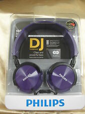 Philips SHL3005 PP Headphones with mic DJ monitor style SHL3005 Purple