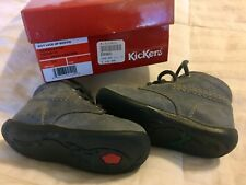Kickers Boy Lace Up Bootie Marine Billy BOYS US 5.5 EUR 21