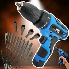 12V Electric Drill Household Lithium Battery Cordless Drill Driver Power Drill