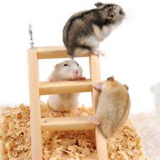 4 Rung Wooden Bridge Ladder Mouse Rat Gerbil Hamster Crawling Bird Cage Toy N7
