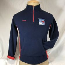 New York Rangers Reebok Fleece Pullover 1/4 Zip Embroidered Face Off Collection